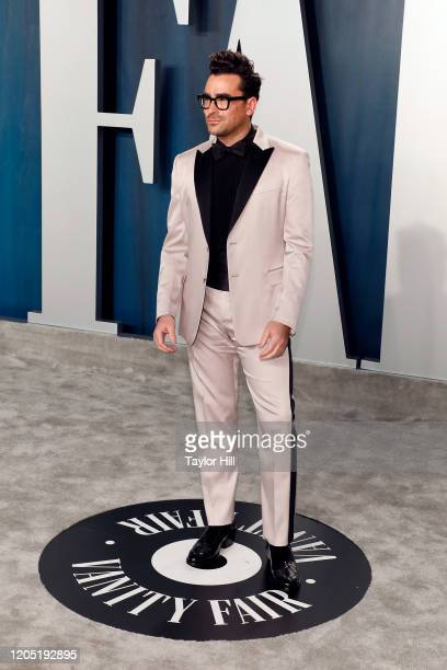Dan Levy attends the 2020 Vanity Fair Oscar Party at Wallis Annenberg Center for the Performing Arts on February 09 2020 in Beverly Hills California