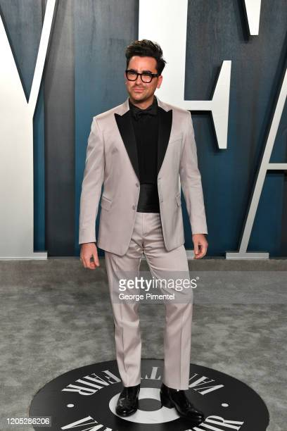 Dan Levy attends the 2020 Vanity Fair Oscar party hosted by Radhika Jones at Wallis Annenberg Center for the Performing Arts on February 09 2020 in...