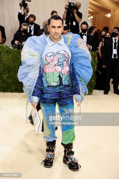 Dan Levy attends The 2021 Met Gala Celebrating In America: A Lexicon Of Fashion at Metropolitan Museum of Art on September 13, 2021 in New York City.