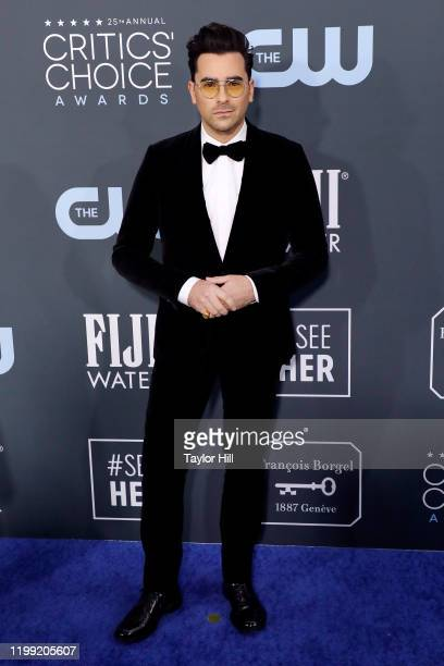 Dan Levy attends the 25th Annual Critics' Choice Awards at Barker Hangar on January 12, 2020 in Santa Monica, California.