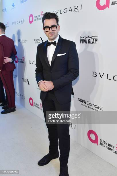 Dan Levy attends the 26th annual Elton John AIDS Foundation Academy Awards Viewing Party sponsored by Bulgari celebrating EJAF and the 90th Academy...