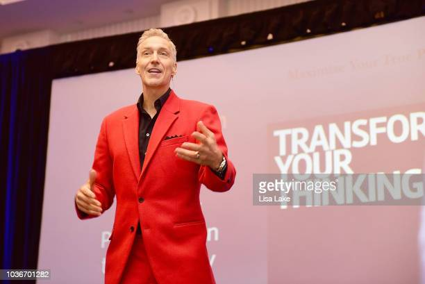 Dan Lier speaks to attendees during the Henry Kellem and Les Brown Hungry For Success Seminar at Sheraton Valley Forge on September 20 2018 in King...