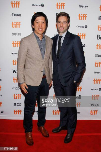 """Dan Lin and Jonathan Eirich attend """"The Two Popes"""" premiere during the 2019 Toronto International Film Festival at Winter Garden Theatre on September..."""