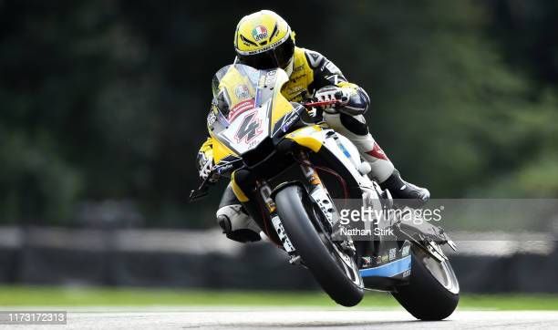 Dan Linfoot of Great Britain in action during the British Superbike Championship at Oulton Park on September 08, 2019 in Chester, England.