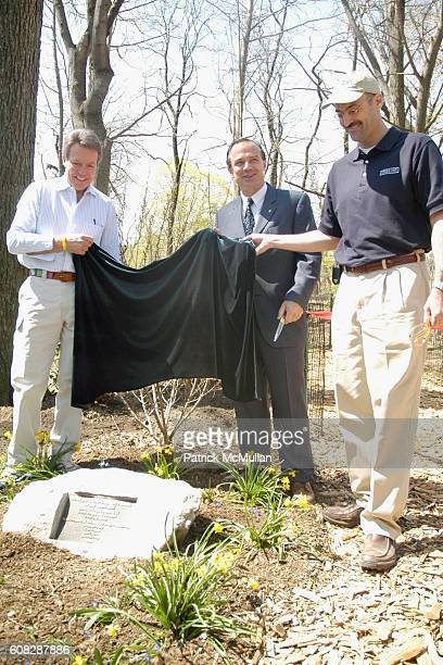 Dan Lufkin Adrian Benepe and Douglas Blonsky attend The Central Park Conservancy Opens the Peter Jay Sharp Children's Glade on Earth Day at The Peter...