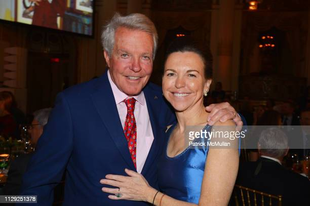 Dan Lufkin and Allison Rockefeller attend National Audubon Society Gala 2019 at The Plaza Hotel on February 7 2019 in New York City