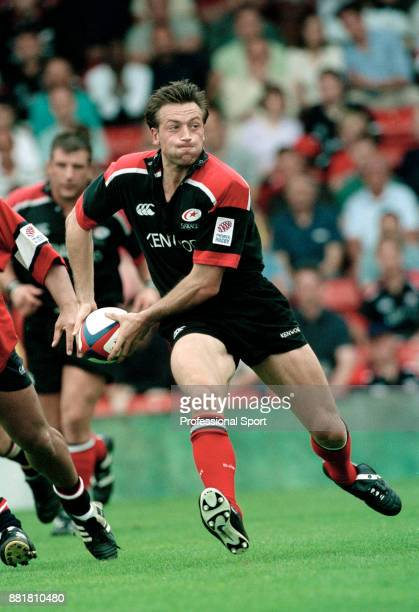 Dan Luger of Saracens in action against Gloucester at Vicarage Road in Watford on 20th August 2000 Saracens won 5020