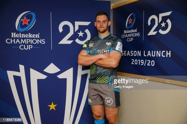 Dan Lydiate of Ospreys during the European Rugby Heineken Champions Cup and Challenge Cup 2019/2020 season launch for Gallagher Premiership and Pro14...