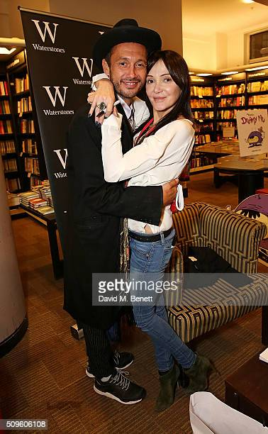 Dan Macmillan and Annabelle Neilson attend the launch of Annabelle Neilson's new children's books 'Dreamy Me' and 'Messy Me' at Waterstones...