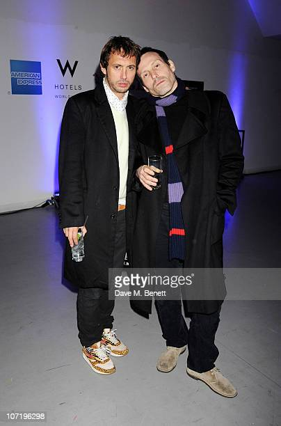 Dan Macmillan and Marlon Richards at the Wyld bar Primal Scream after party hosted by W Hotels and American Express on November 27 2010 in London...