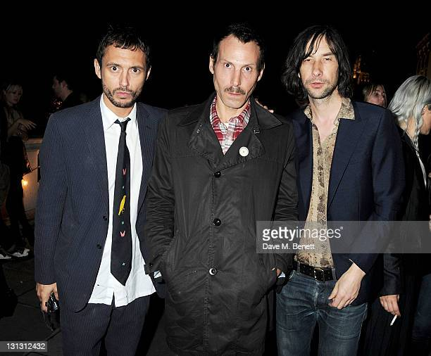 Dan Macmillan Marlon Richards and Bobby Gillespie attend an exhibition celebrating the 20th anniversary of Dazed Confused Magazine in partnership...