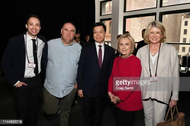 Dan Macsai Jose Andres KaiFu Lee Hillary Clinton and Martha Stewart attend the TIME 100 Summit 2019 on April 23 2019 in New York City