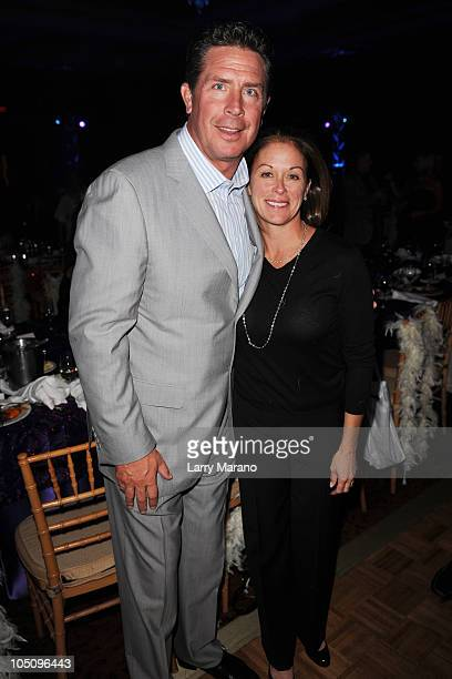 Dan Marino and Claire Marino attend the 10th Annual Footy's Bubbles and Bones Gala to benefit Here's Help at Westin Diplomat on October 8 2010 in...