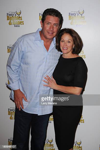 Dan Marino and Claire Marino attend the 13th Annual Footy's Bubbles Bones Gala at Westin Diplomat on October 25 2013 in Hollywood Florida