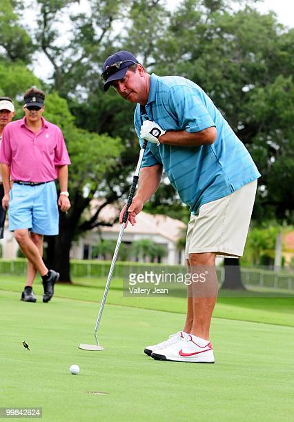 Dan Marino attends The Jason Taylor Celebrity Golf Classic at Grande Oaks Golf Club on May 17 2010 in Davie Florida