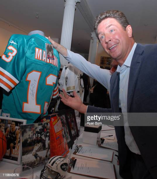 Dan Marino during Benefit for the Laureus Sport for Good Foundation USA at McEnroe Gallery in New York City New York United States