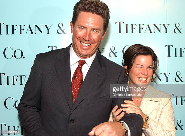 Dan Marino Marcia Gay Harden during Tiffany Co Honors Bette Midler Marcia Gay Harden Candace Bushnell Dan Marino and Ed Schlossberg to Celebrate the...