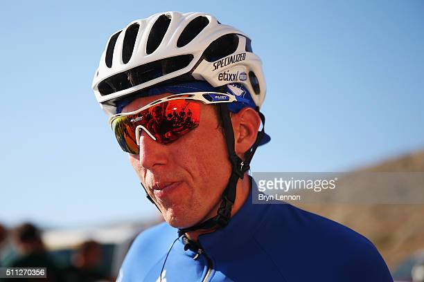 Dan Martin of Ireland and EtixxQuick Step looks on at the finish of stage four of the 2016 Tour of Oman a 177km road stage from Knowledge Oasis...