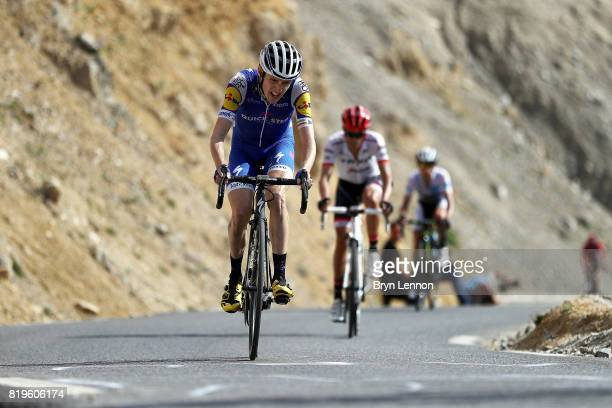 Dan Martin of Ireland and QuickStep Floors climbs the Col d'Izoard on stage eighteen of the 2017 Tour de France a 1795km stage from Briancon to...