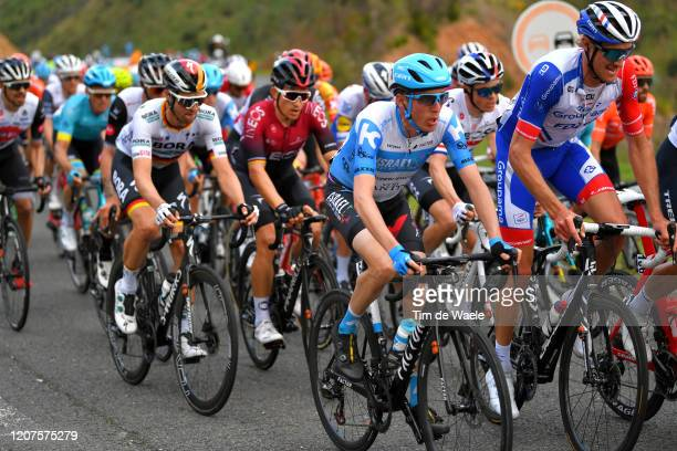 Dan Martin of Ireland and Team Israel Start-Up Nation / Tobias Ludvigsson of Sweden and Team Groupama - FDJ / Maximilian Schachmann of Germany and...