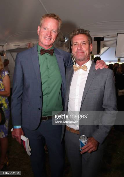 Dan Mathews and Jack Ryan at the East Hampton Library's 15th Annual Authors Night Benefit on August 10 2019 in Amagansett New York
