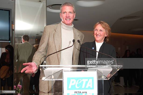 Dan Mathews PeTA Vice President and Ingrid Newkirk PeTA President