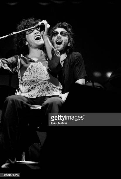 Dan McCafferty left and Peter Agnew of Nazareth performing at the Aragon Ballroom In Chicago Ilinois March 17 1978