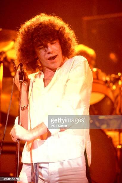 Dan McCafferty of Nazareth performing at the Auditorium Theater in Chicago Illinois April 22 1977
