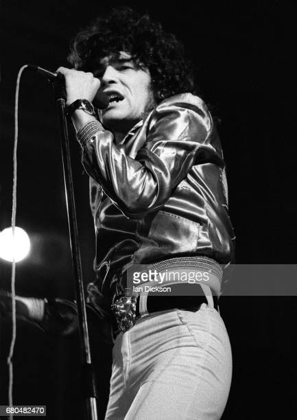 Dan McCafferty of Nazareth performing on stage at City Hall Newcastle upon Tyne 15 May 1974 on tour promoting the album 'Rampant'