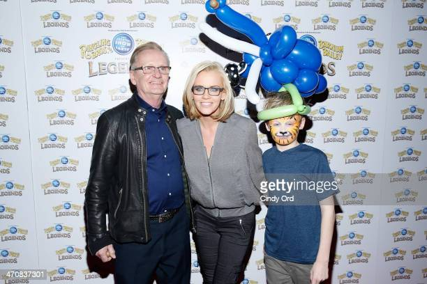 Dan McCarthy Jenny McCarthy and Evan Joseph Asher attend Ringling Bros and Barnum Bailey presents Legends at Barclays Center of Brooklyn on February...