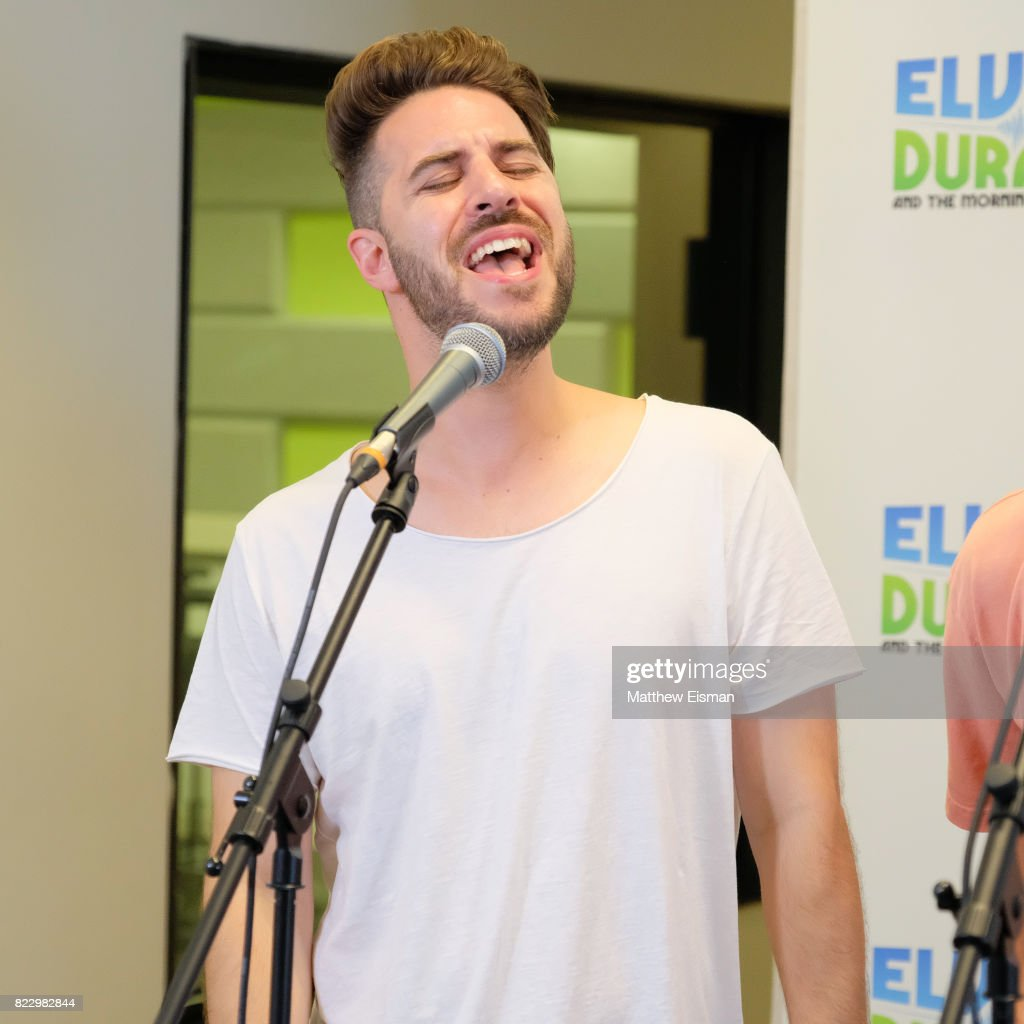 Dan Miller of the band O-Town performs live on 'The Elvis Duran Z100 Morning Show' at Z100 Studio on July 24, 2017 in New York City.