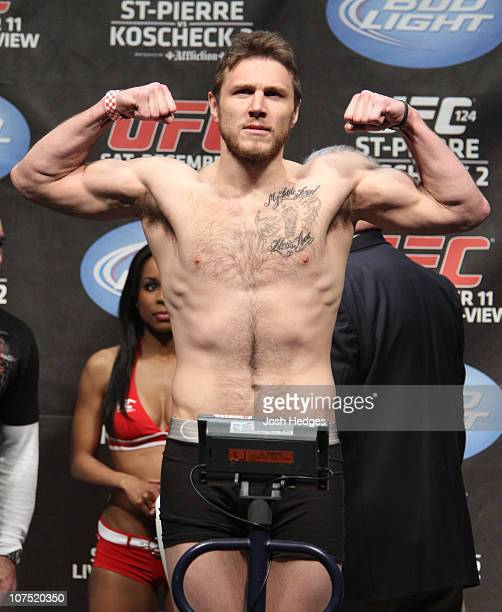 Dan Miller weighs in at 184.5 lbs at the UFC 124 Weigh-in at the Bell Centre on December 10, 2010 in Montreal, Quebec, Canada.