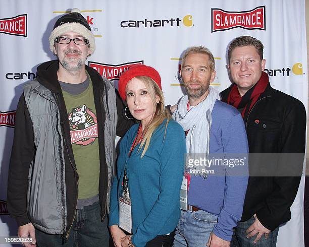 Dan Mirvish Elana Krausz Christo D Massis and Barry Hennessey attends the Slamdance Film Festival at Slamdance Public House on January 20 2013 in...