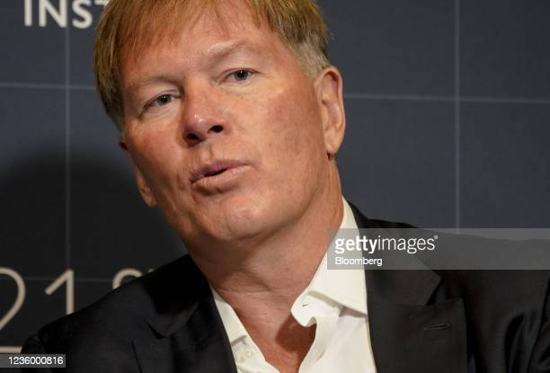 Dan Morehead, founder and chief executive officer of Pantera Capital Management LP, speaks during the Milken Institute Global Conference in Beverly...