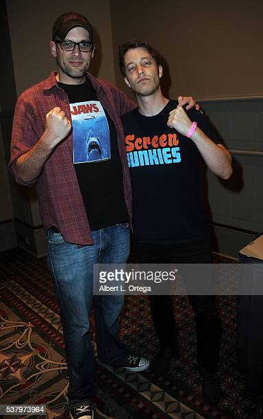 Dan Murrell and Spencer Gilbert of Screen Junkies on Day 2 of Wizard World Comic Con Philadelphia 2016 held at Pennsylvania Convention Center on June...