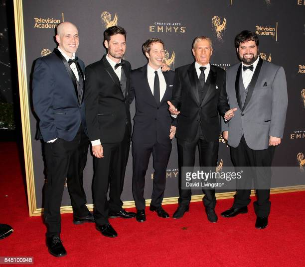 Dan Murrell Joe Starr Spencer Gilbert Michael Bolton and Andy Signore attend the 2017 Creative Arts Emmy Awards at Microsoft Theater on September 9...