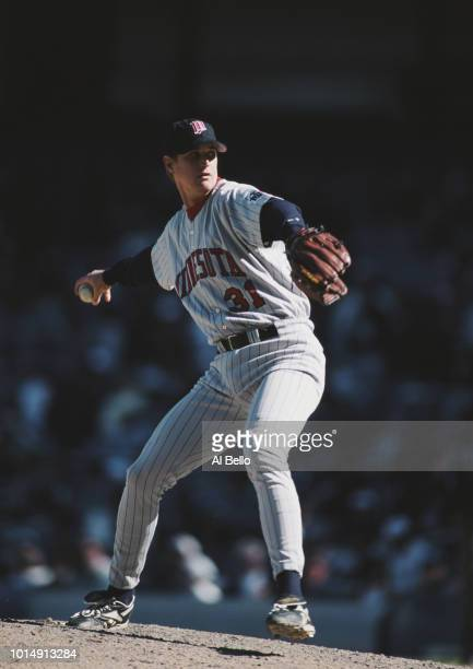 Dan Naulty Pitcher for the Minnesota Twins on the mound during the Major League Baseball American League East game against the New York Yankees on 27...
