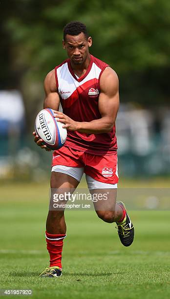 Dan Norton in action during the England Sevens Squad Announcement for the Commonwealth Games on July 9 2014 in London England