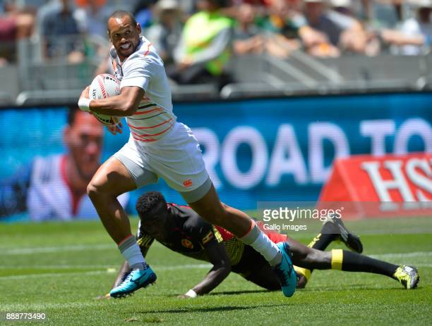 Dan Norton of England during day 1 of the 2017 HSBC Cape Town Sevens match between England and Uganda at Cape Town Stadium on December 09 2017 in...