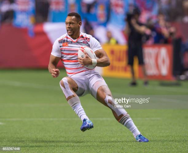 Dan Norton of England runs the ball against South Africa in the Cup Final on day 2 of the 2017 Canada Sevens Rugby Tournament on March 12 2017 in...