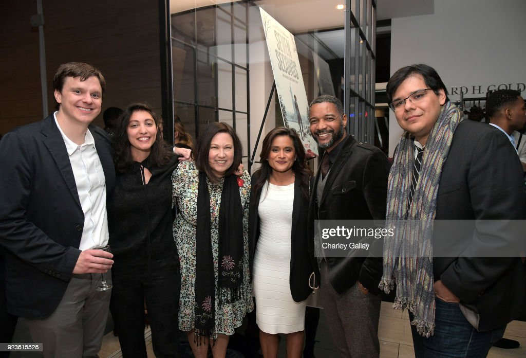 Dan Nowak, Francesca Sloane, Evangeline Ordaz, Veena Sud, David Shanks, and John Lopez attend Netflix's 'Seven Seconds' Premiere screening and post-reception in Beverly Hills, CA on February 23, 2018 in Beverly Hills, California.