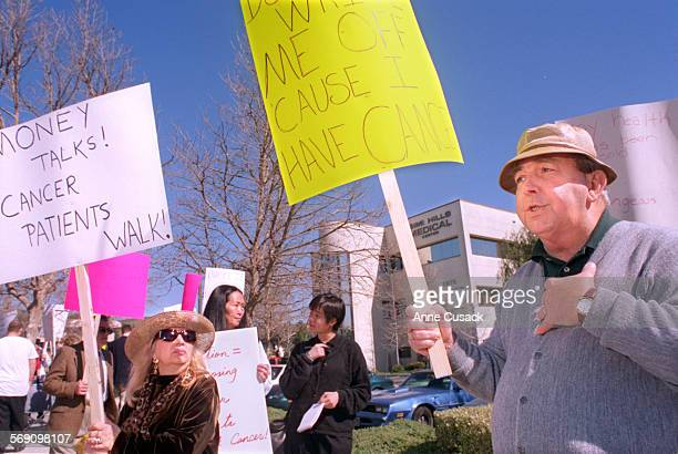 Dan O'Donnell ##right%% age 59 of Simi Valley is being treated for Lymphoma of the colon and liver Here he protests the changes in in his health care...