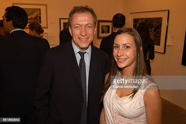 Dan Opperman and Morgan Metius attend 'TAKE HOME A NUDE' ART AUCTION AND PARTY at Phillips de Pury Company on October 20 2005 in New York City