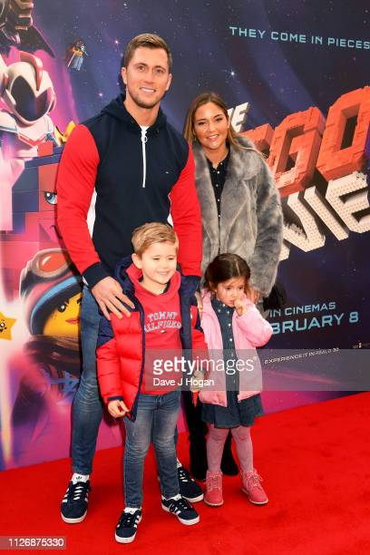 Dan Osborne and Jacqueline Jossa attend the multimedia screening of The Lego Movie 2 The Second Part at Cineworld Leicester Square on February 02...