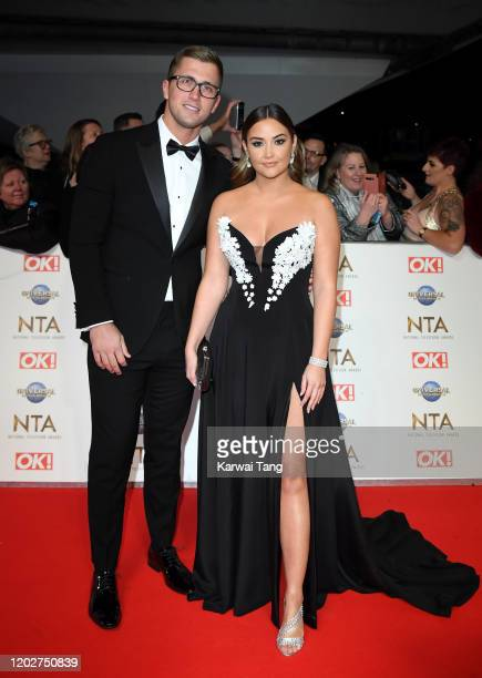 Dan Osborne and Jacqueline Jossa attend the National Television Awards 2020 at The O2 Arena on January 28 2020 in London England