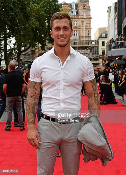Dan Osborne attends the World Premiere of The Expendables 3 at Odeon Leicester Square on August 4 2014 in London England