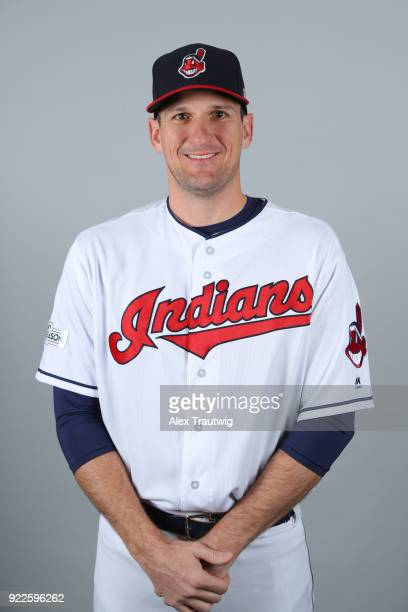 Dan Otero of the Cleveland Indians poses during Photo Day on Wednesday February 21 2018 at Goodyear Ballpark in Goodyear Arizona