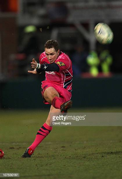 Dan Parks of Cardiff kicks a penalty during the Heineken Cup Pool 1 match between Northampton Saints and Cardiff Blues at Franklin's Gardens on...