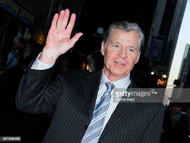 Dan Patrick leaves the Late Show with David Letterman at Ed Sullivan Theater on January 15 2015 in New York City