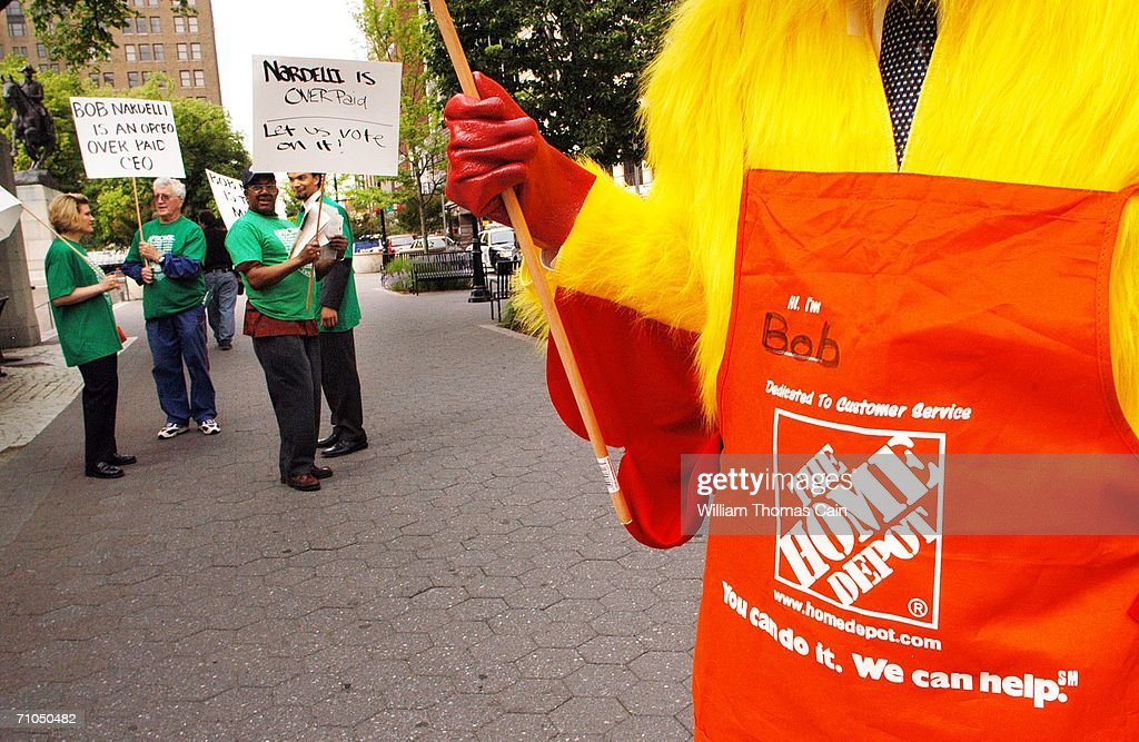 Demonstrators Protest Outside Home Depot Annual Meeting s and